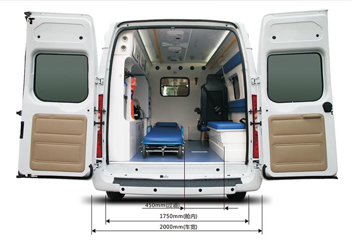 新世代短轴中顶救护车V348监护型医疗舱照片