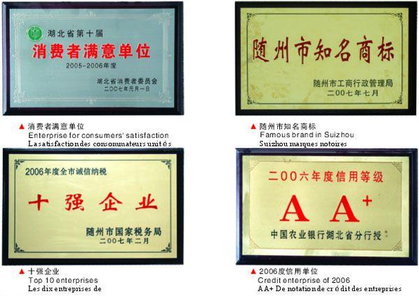 东正救护车厂荣誉资质1